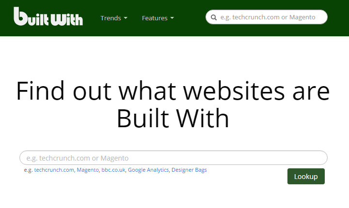 BuiltWith - Homepage