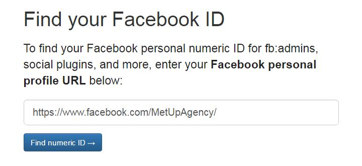 Find my Facebook ID - Homepage