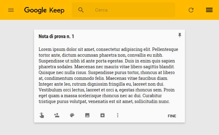 Google Keep - Editor