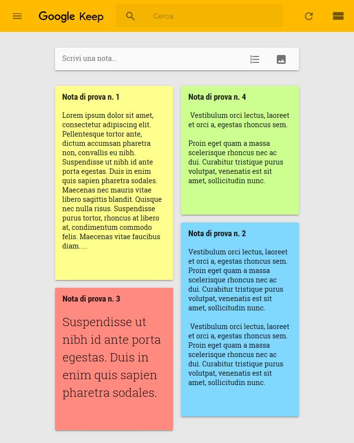 Google Keep - Notes
