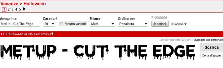 DaFont - Anteprima Font