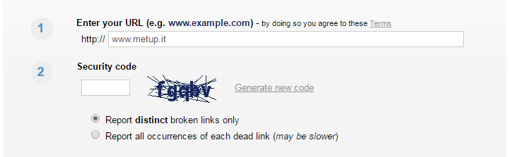 Online Broken Link Checker - Enter your URL