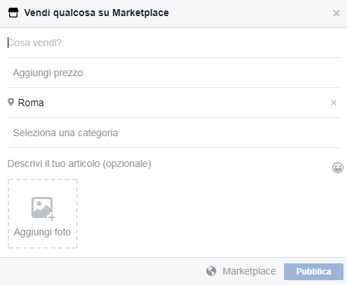 cos'è facebook marketplace